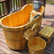 Bồn tắm gỗ pơ mu giá rẻ