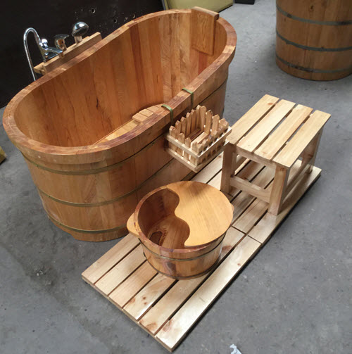 Bồn tắm gỗ sồi giá rẻ