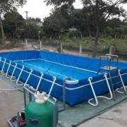 Bể bơi bằng phao hơi hình chữ nhật